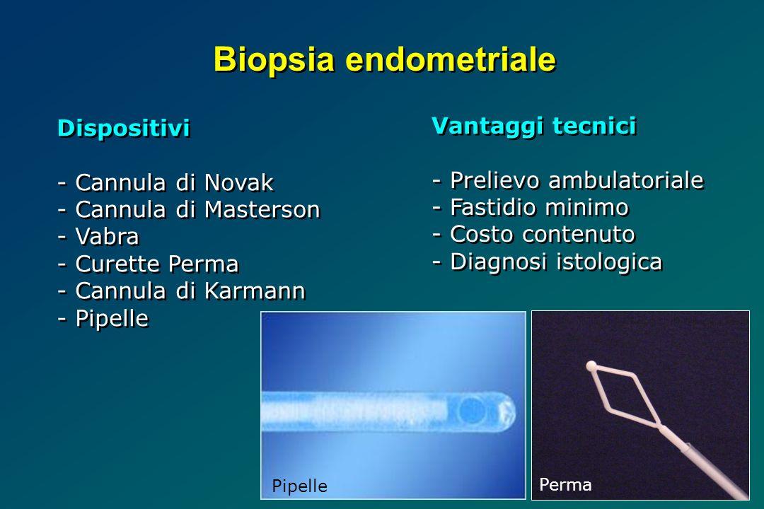 Biopsia endometriale Dispositivi Vantaggi tecnici