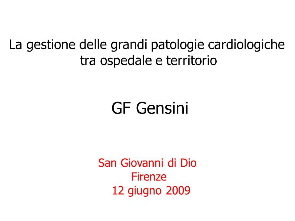 GF Gensini La gestione delle grandi patologie cardiologiche