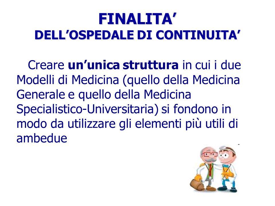 FINALITA' DELL'OSPEDALE DI CONTINUITA'