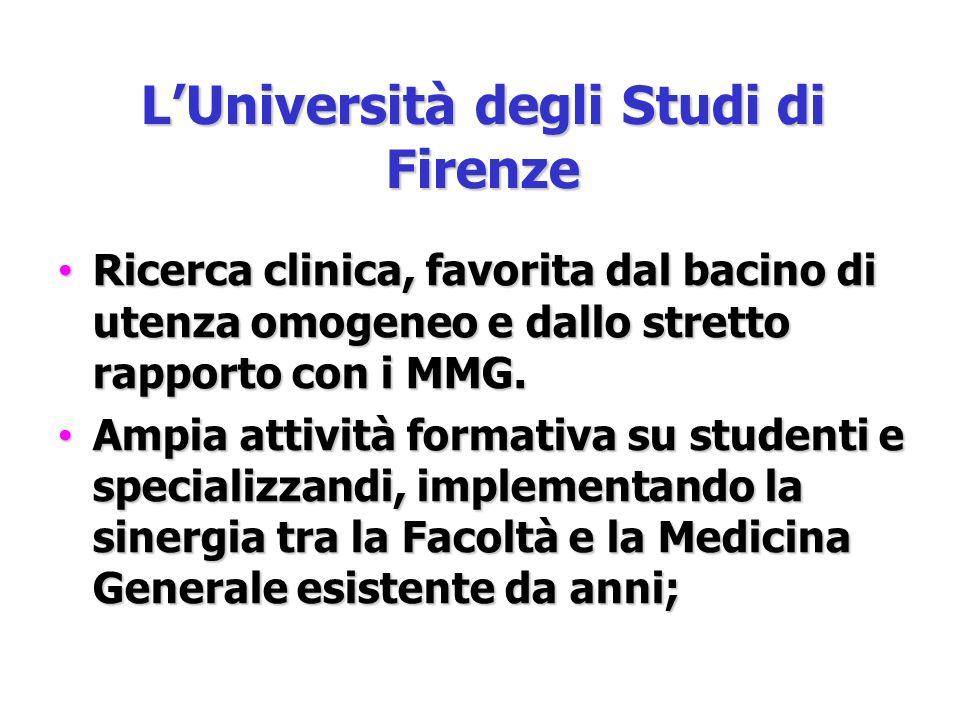 L'Università degli Studi di Firenze