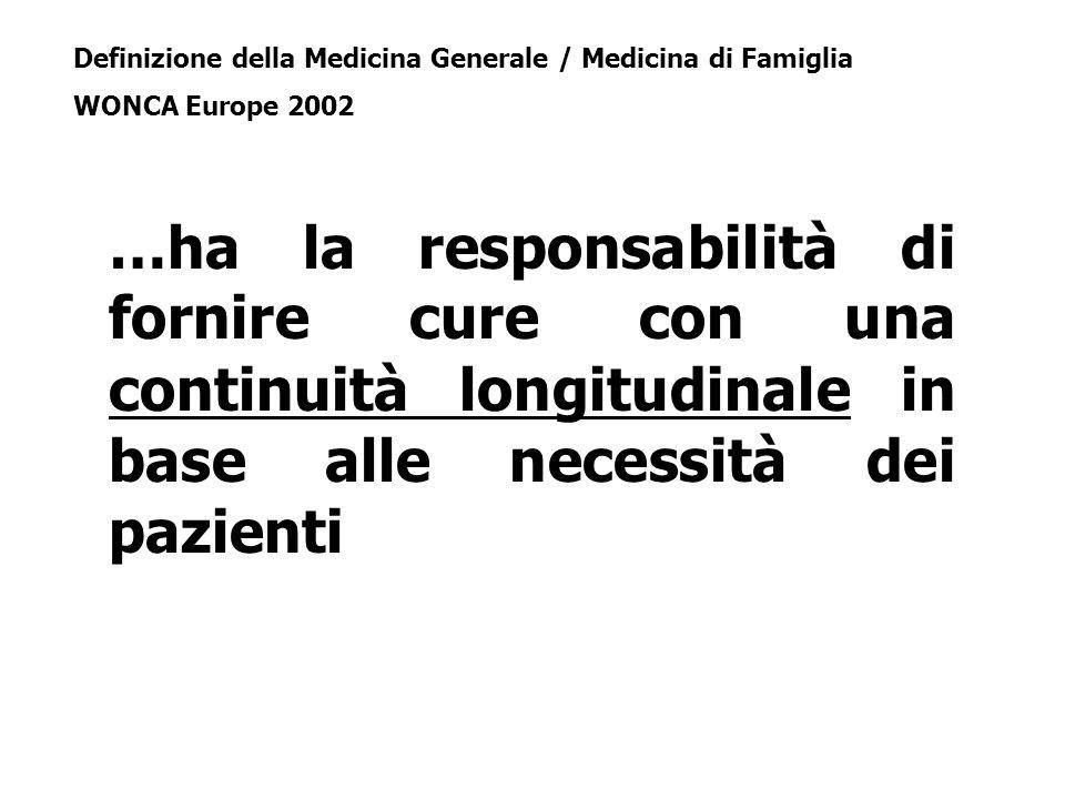 Definizione della Medicina Generale / Medicina di Famiglia