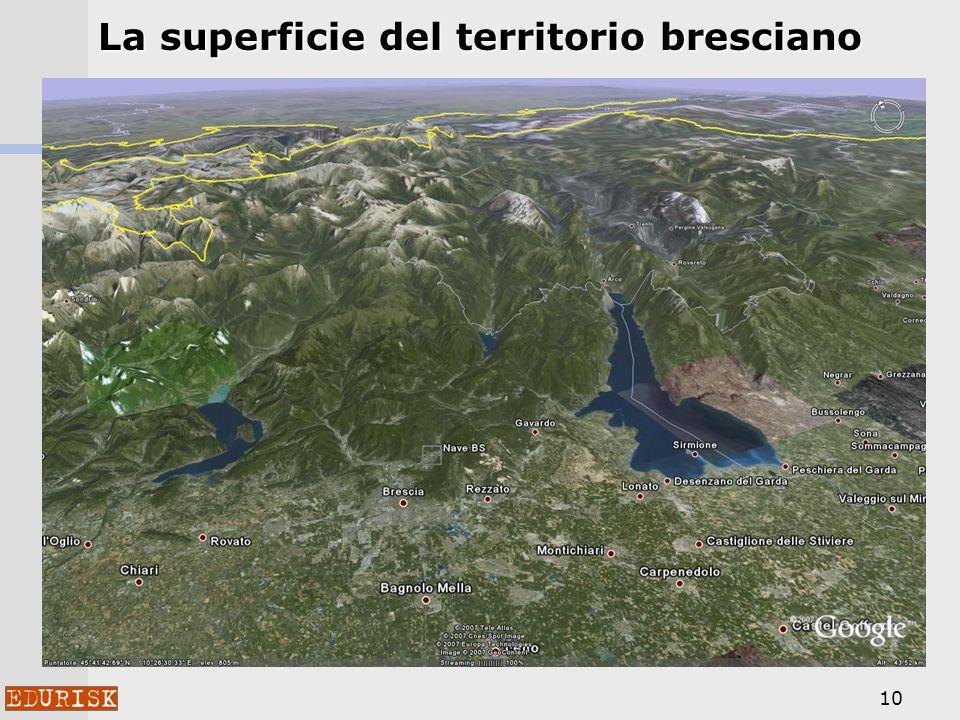 La superficie del territorio bresciano