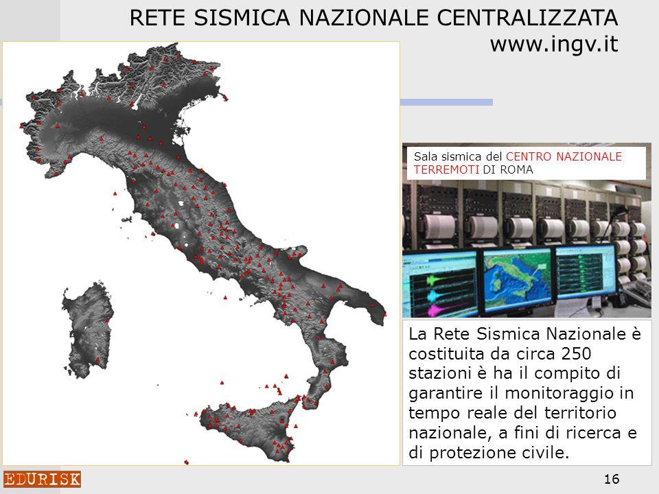 RETE SISMICA NAZIONALE CENTRALIZZATA www.ingv.it