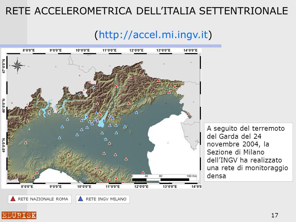 RETE ACCELEROMETRICA DELL'ITALIA SETTENTRIONALE