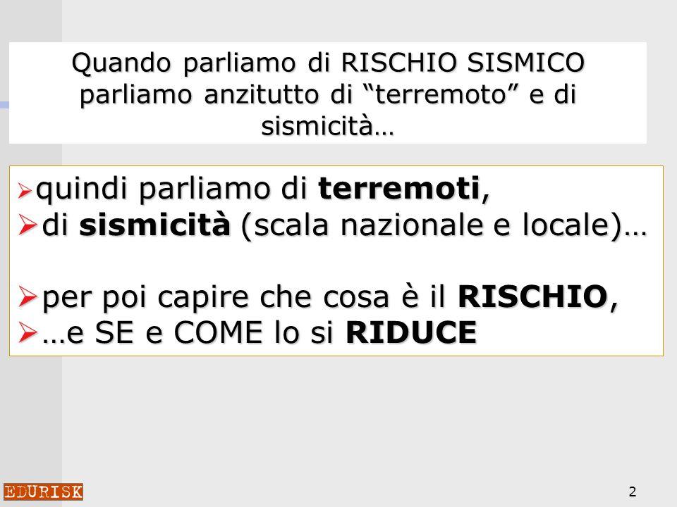 di sismicità (scala nazionale e locale)…