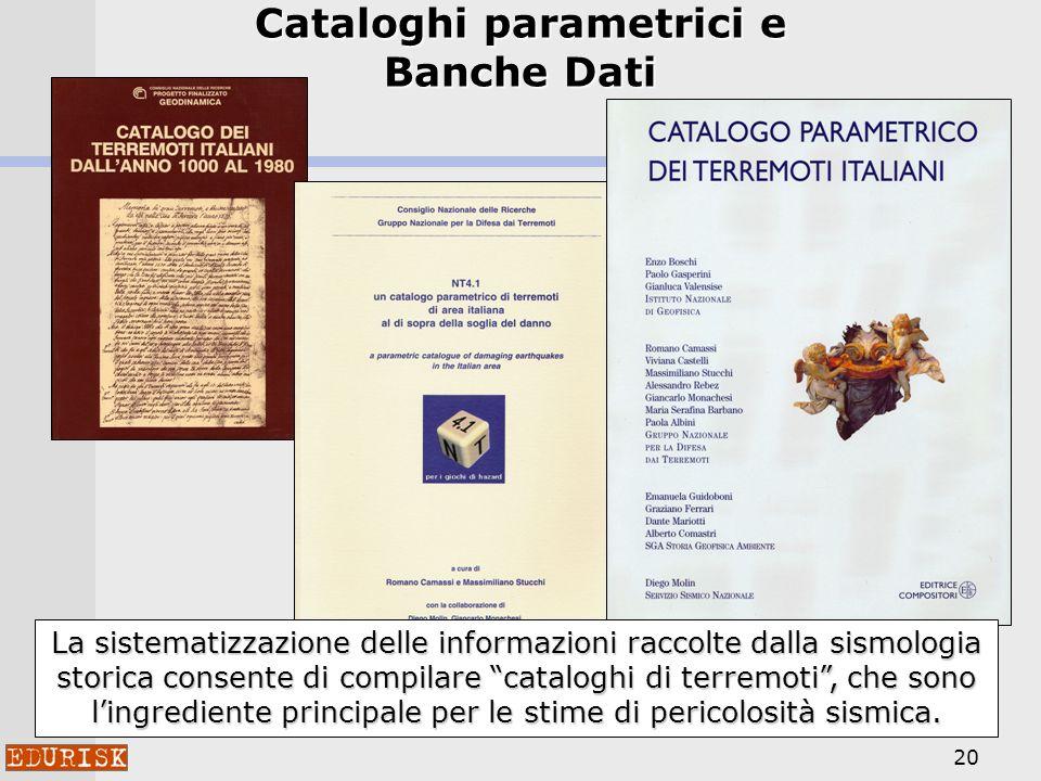 Cataloghi parametrici e Banche Dati