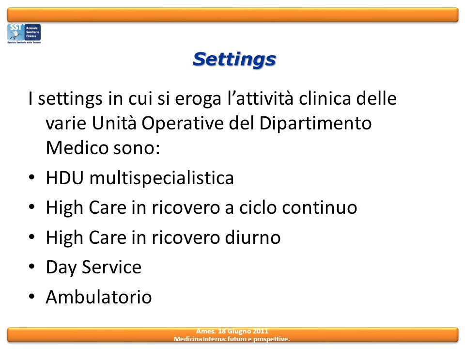 HDU multispecialistica High Care in ricovero a ciclo continuo