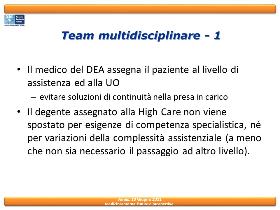 Team multidisciplinare - 1