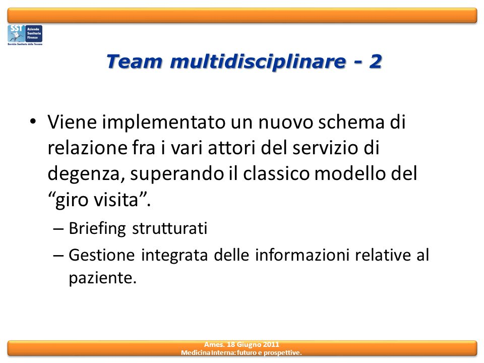 Team multidisciplinare - 2