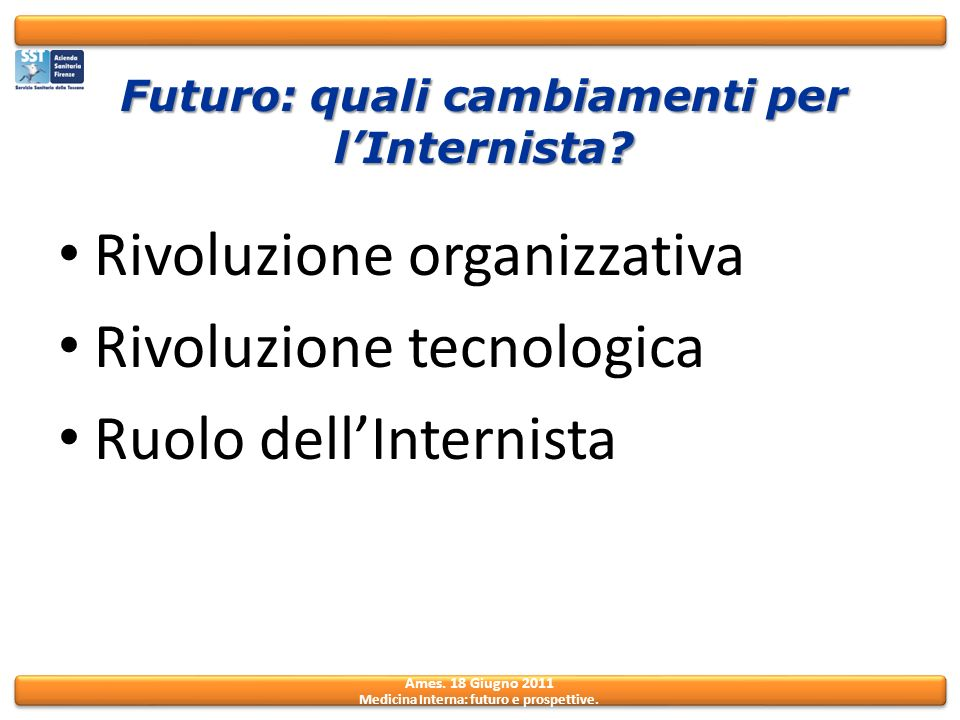 Futuro: quali cambiamenti per l'Internista