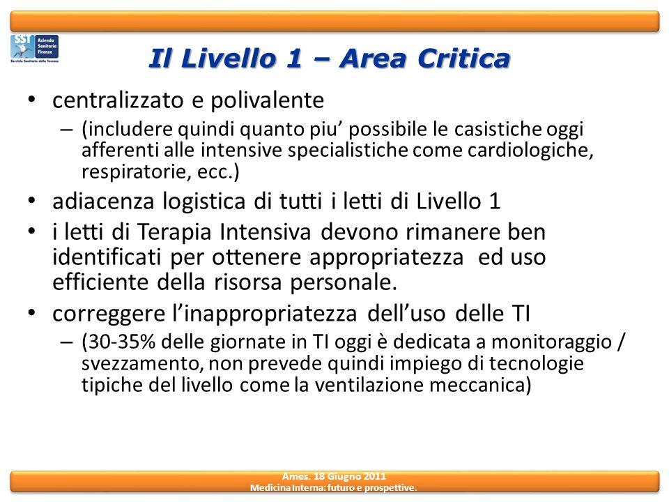 Il Livello 1 – Area Critica