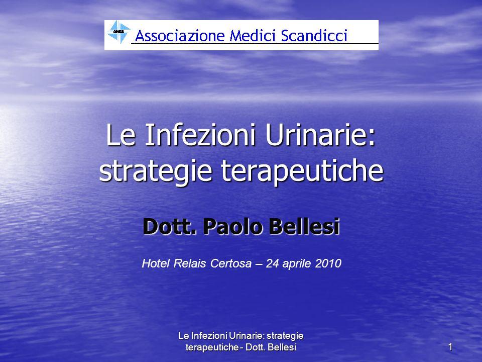 Le Infezioni Urinarie: strategie terapeutiche