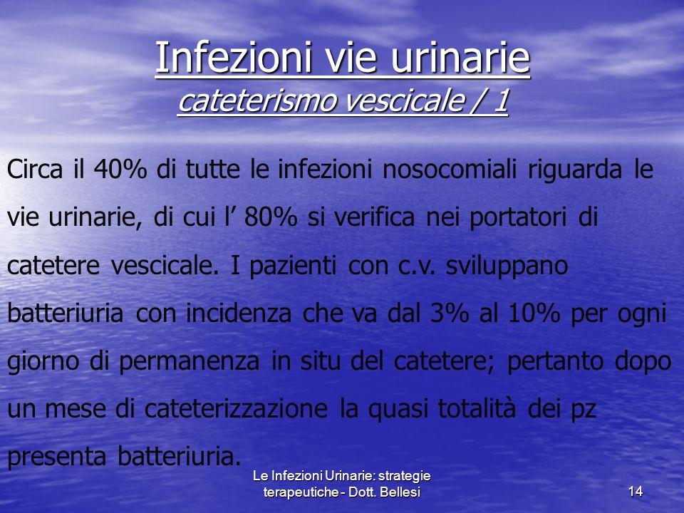 Infezioni vie urinarie cateterismo vescicale / 1