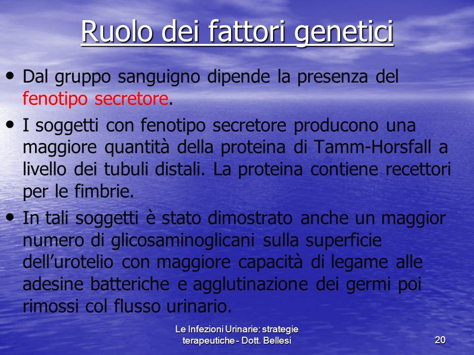 Ruolo dei fattori genetici