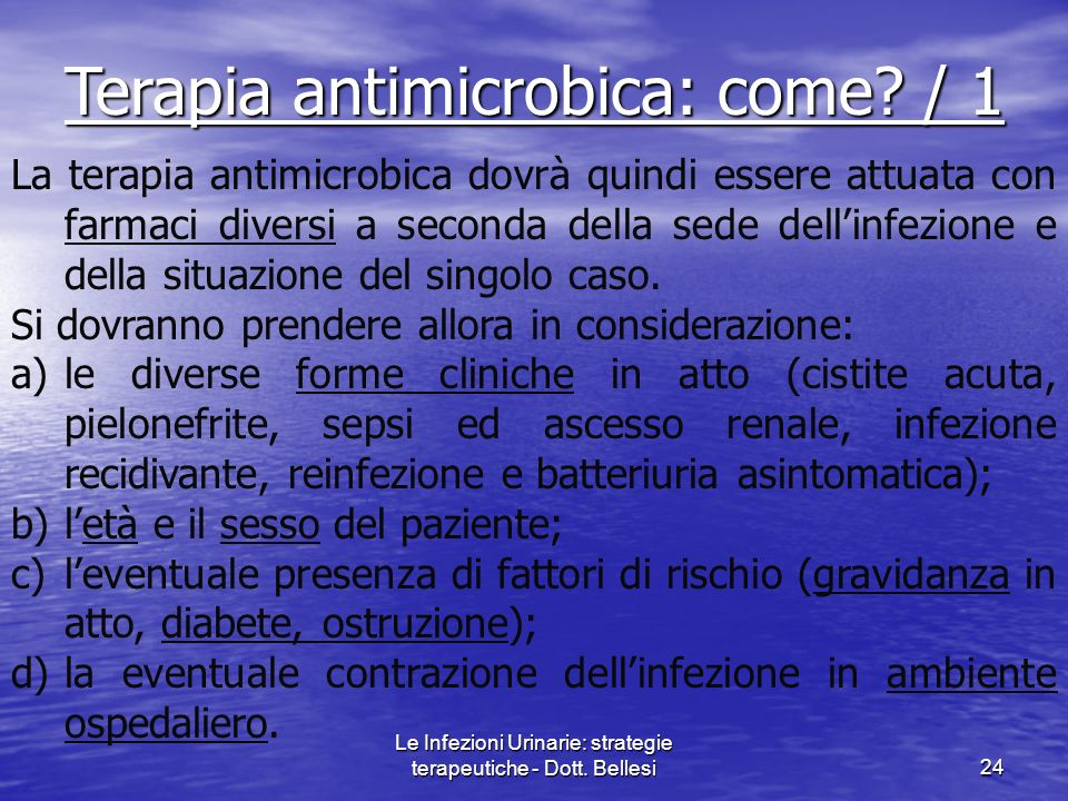 Terapia antimicrobica: come / 1