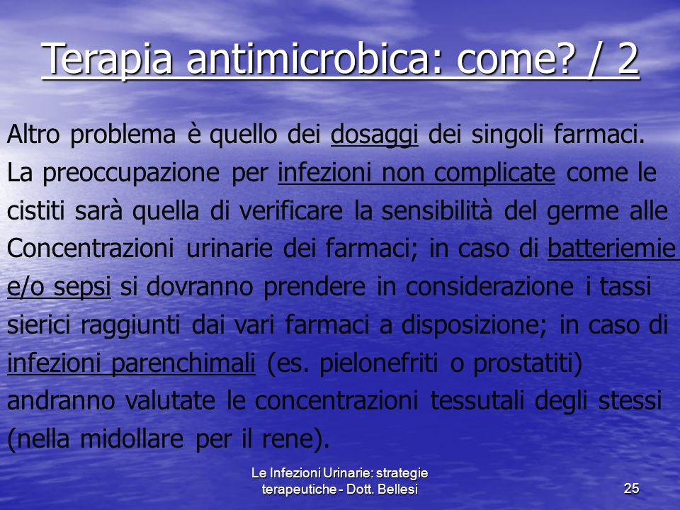 Terapia antimicrobica: come / 2