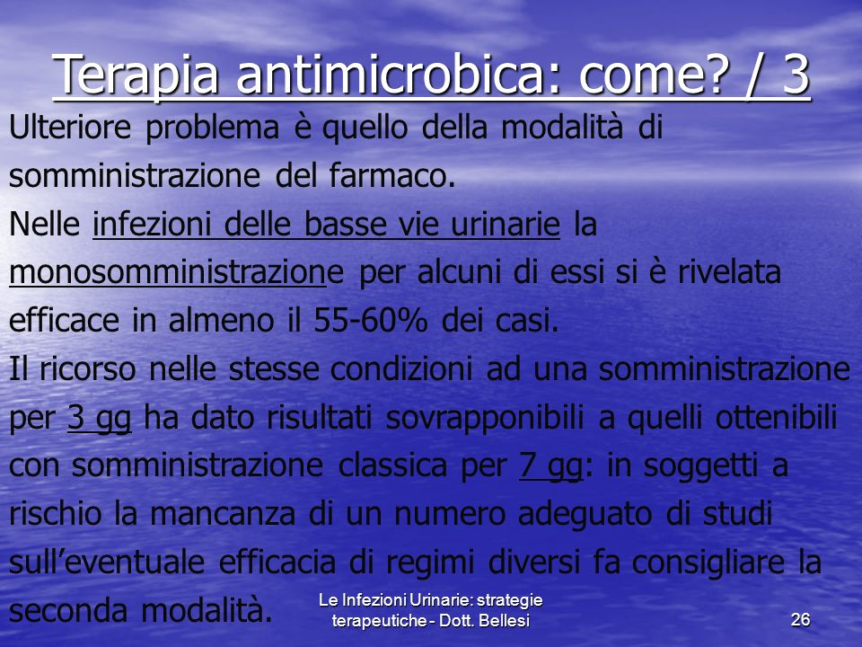Terapia antimicrobica: come / 3