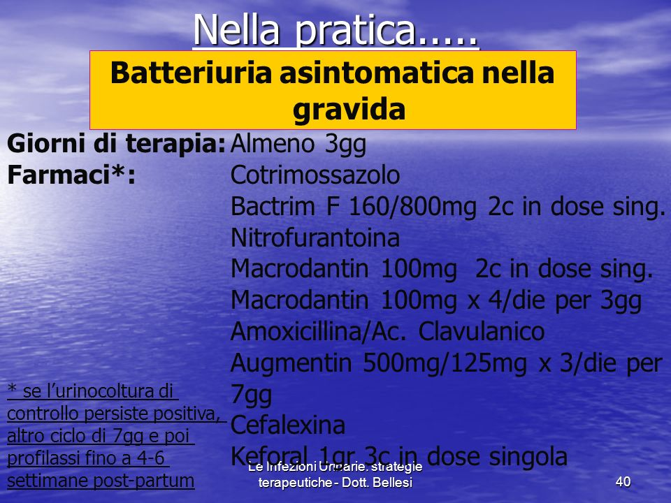 Batteriuria asintomatica nella gravida