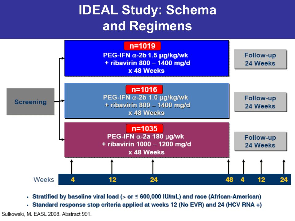 IDEAL Study: Schema and Regimens