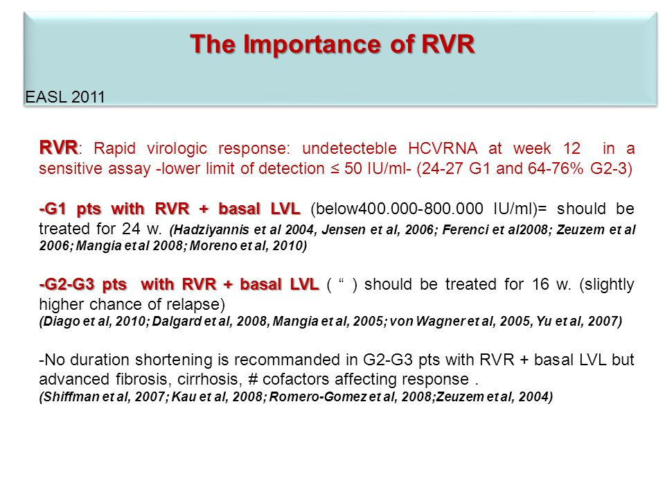 The Importance of RVR EASL 2011.