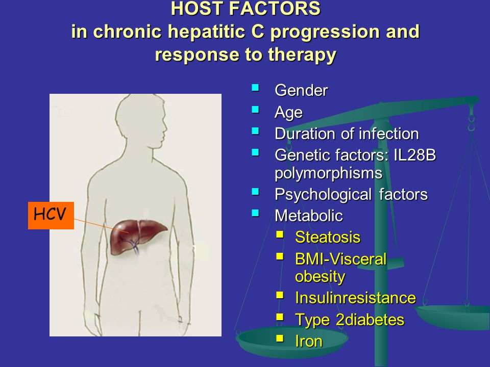 HOST FACTORS in chronic hepatitic C progression and response to therapy