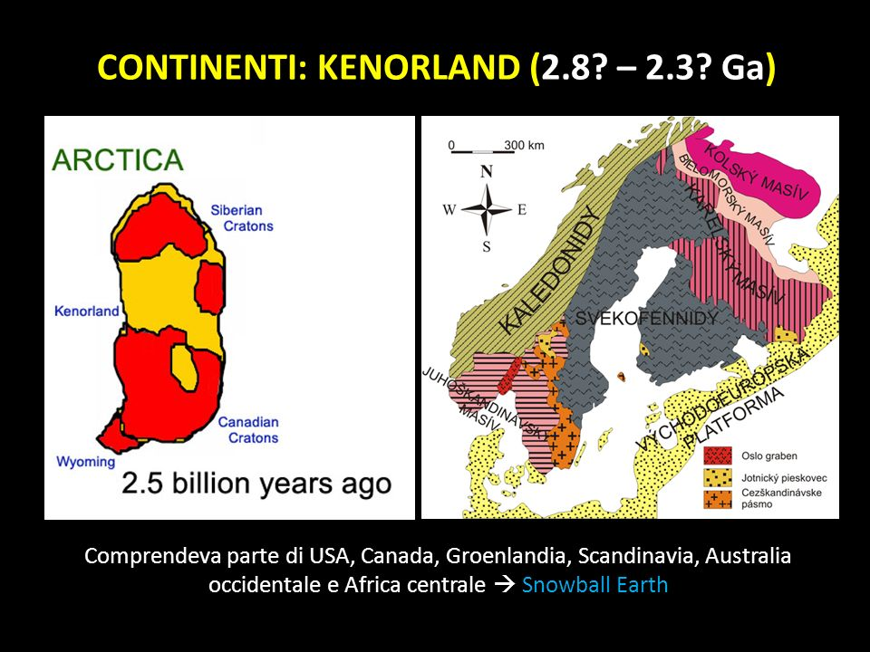 CONTINENTI: KENORLAND (2.8 – 2.3 Ga)