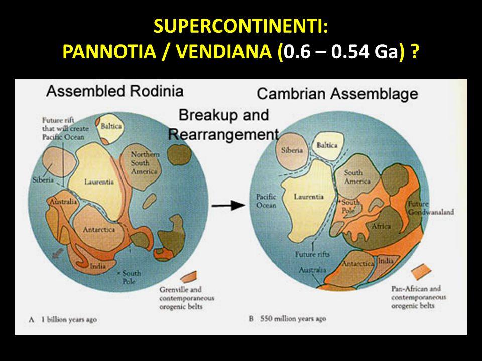 PANNOTIA / VENDIANA (0.6 – 0.54 Ga)