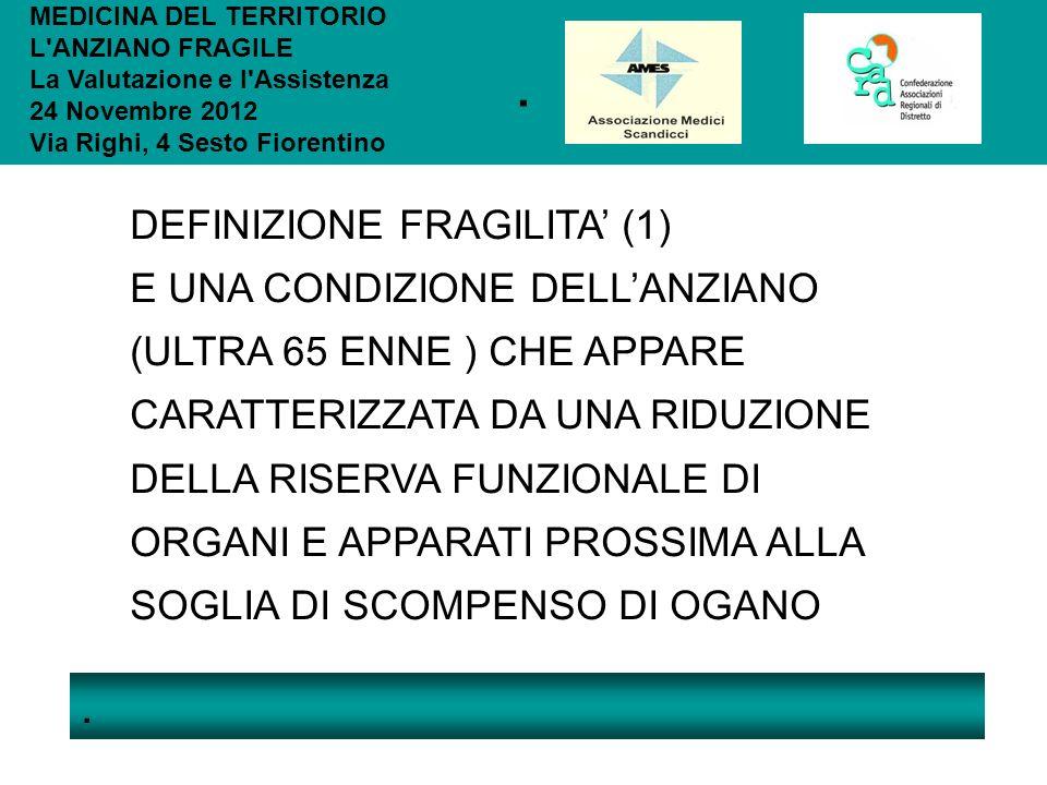 . . DEFINIZIONE FRAGILITA' (1)