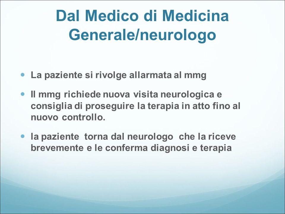 Dal Medico di Medicina Generale/neurologo