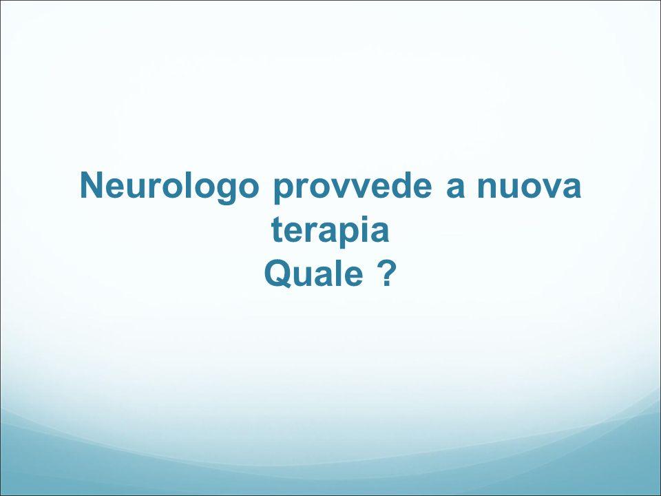 Neurologo provvede a nuova terapia Quale