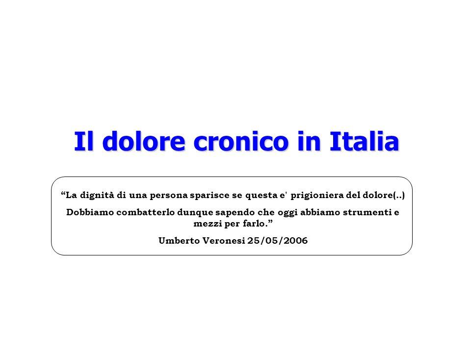 Il dolore cronico in Italia