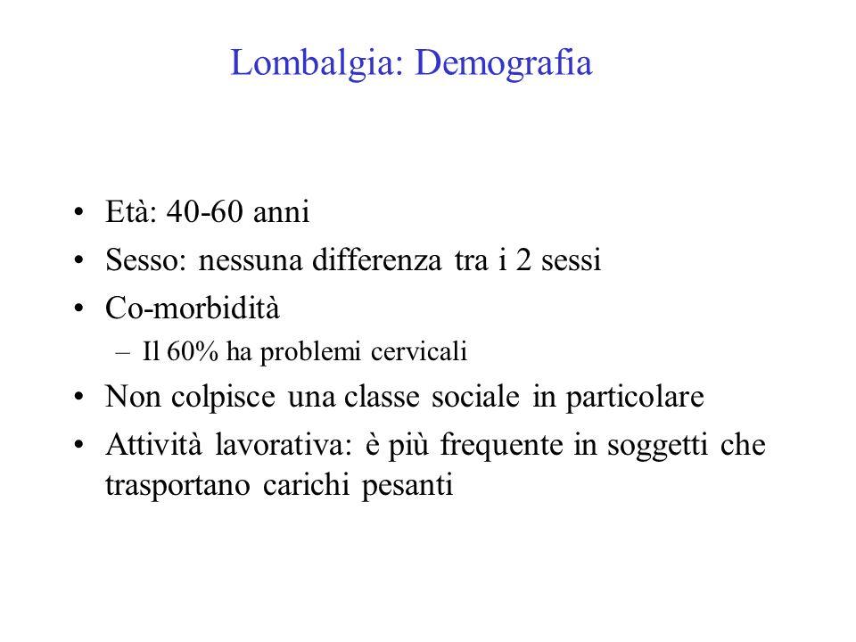 Lombalgia: Demografia