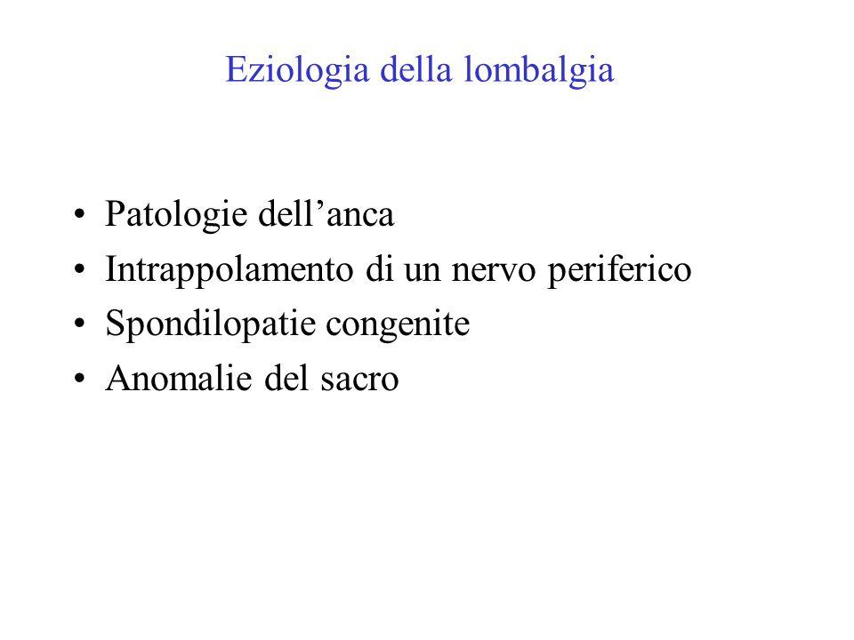 Eziologia della lombalgia