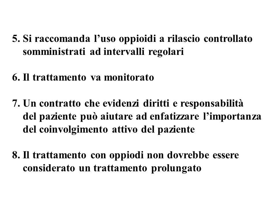 5. Si raccomanda l'uso oppioidi a rilascio controllato