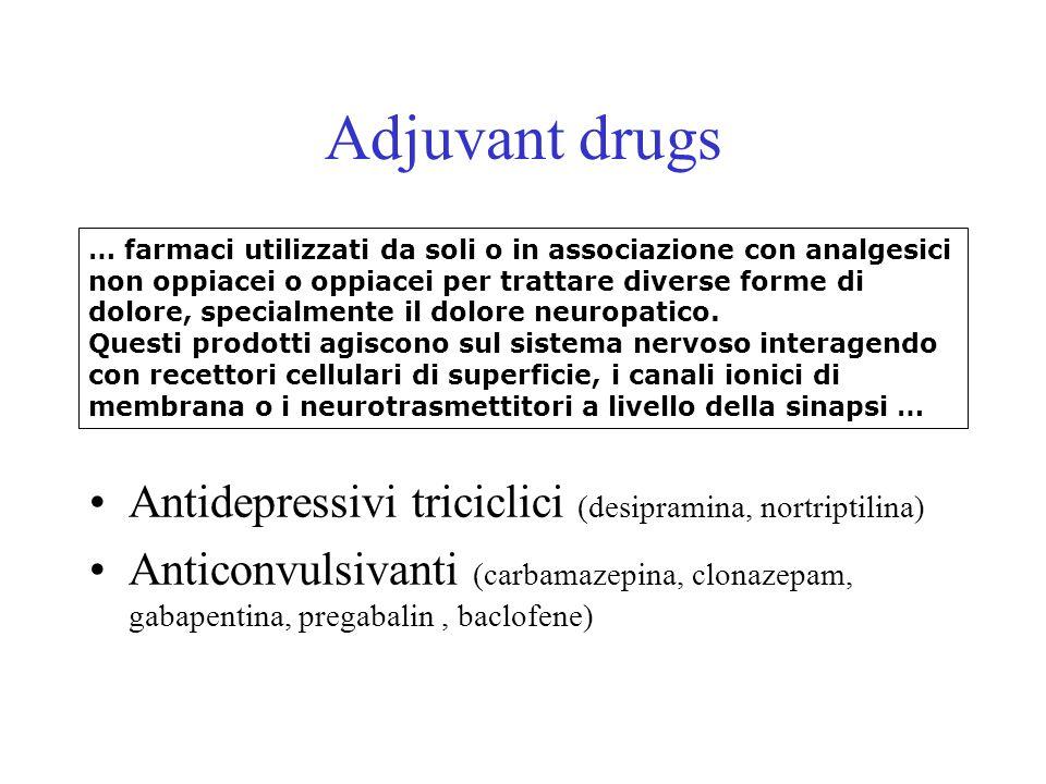 Adjuvant drugs Antidepressivi triciclici (desipramina, nortriptilina)