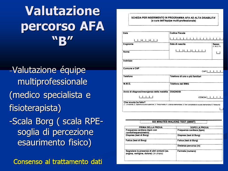Valutazione percorso AFA B