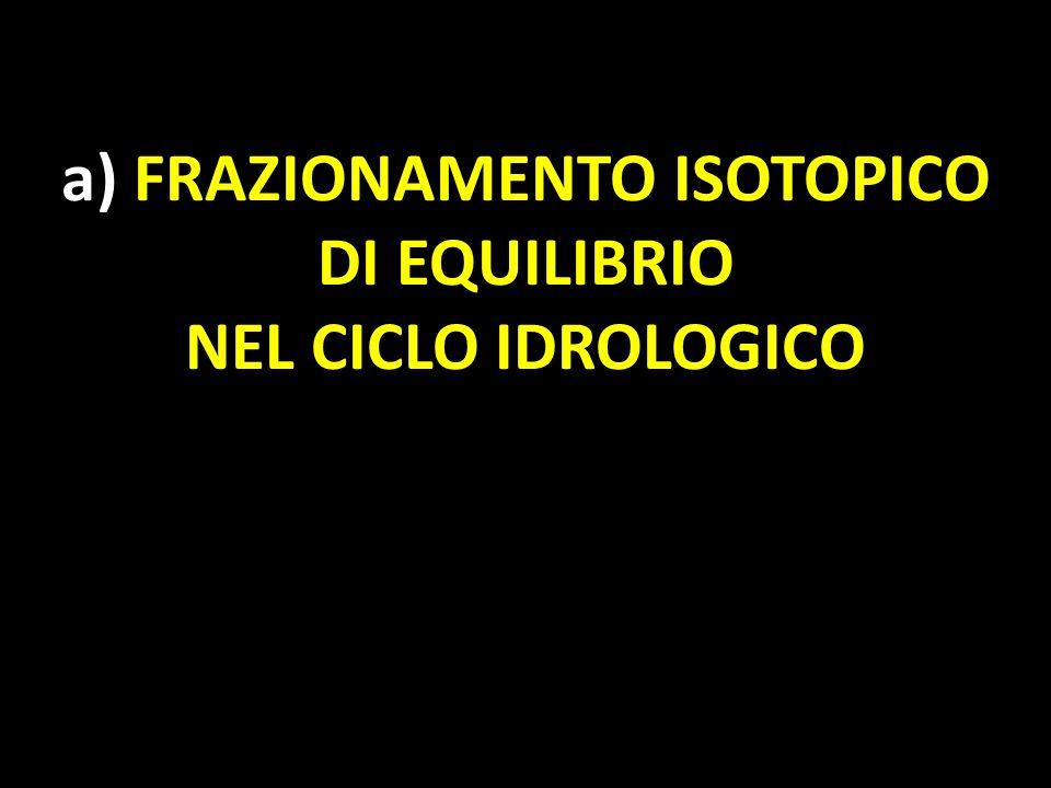 a) FRAZIONAMENTO ISOTOPICO