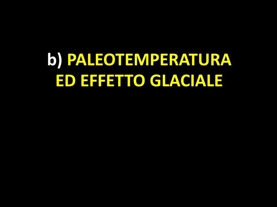 b) PALEOTEMPERATURA ED EFFETTO GLACIALE