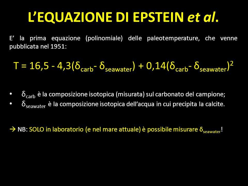 L'EQUAZIONE DI EPSTEIN et al.