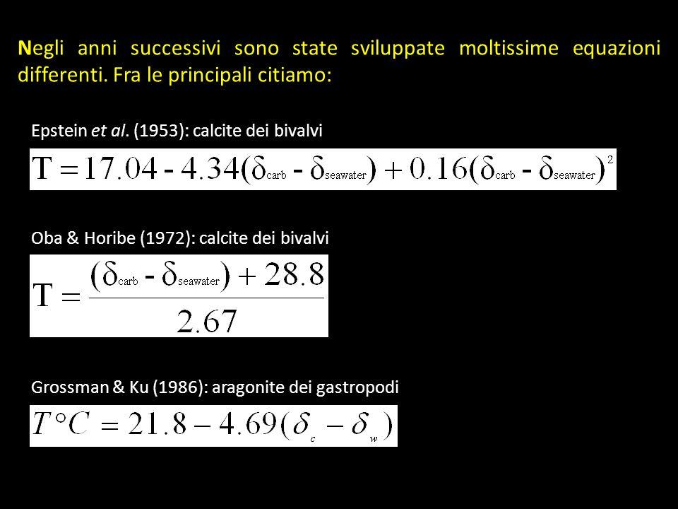 Negli anni successivi sono state sviluppate moltissime equazioni differenti. Fra le principali citiamo: