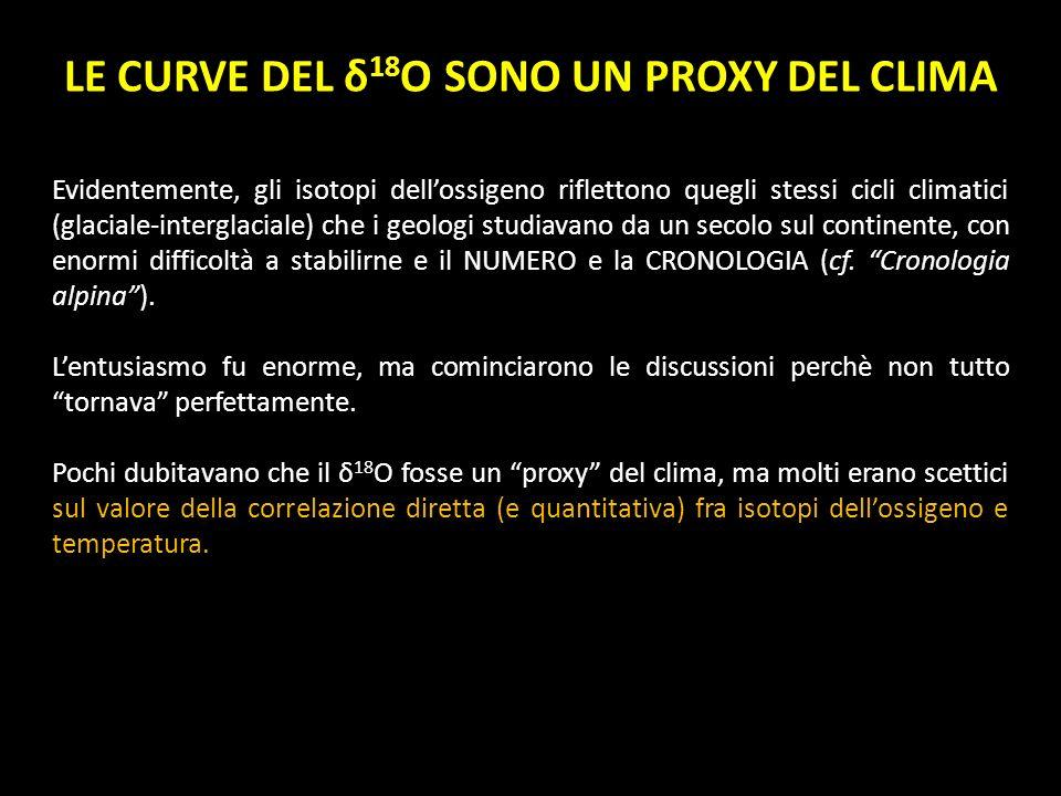 LE CURVE DEL δ18O SONO UN PROXY DEL CLIMA
