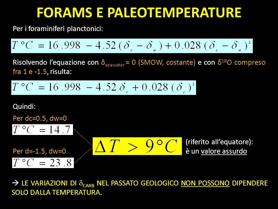 FORAMS E PALEOTEMPERATURE