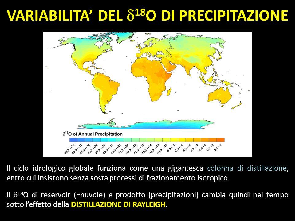 VARIABILITA' DEL 18O DI PRECIPITAZIONE