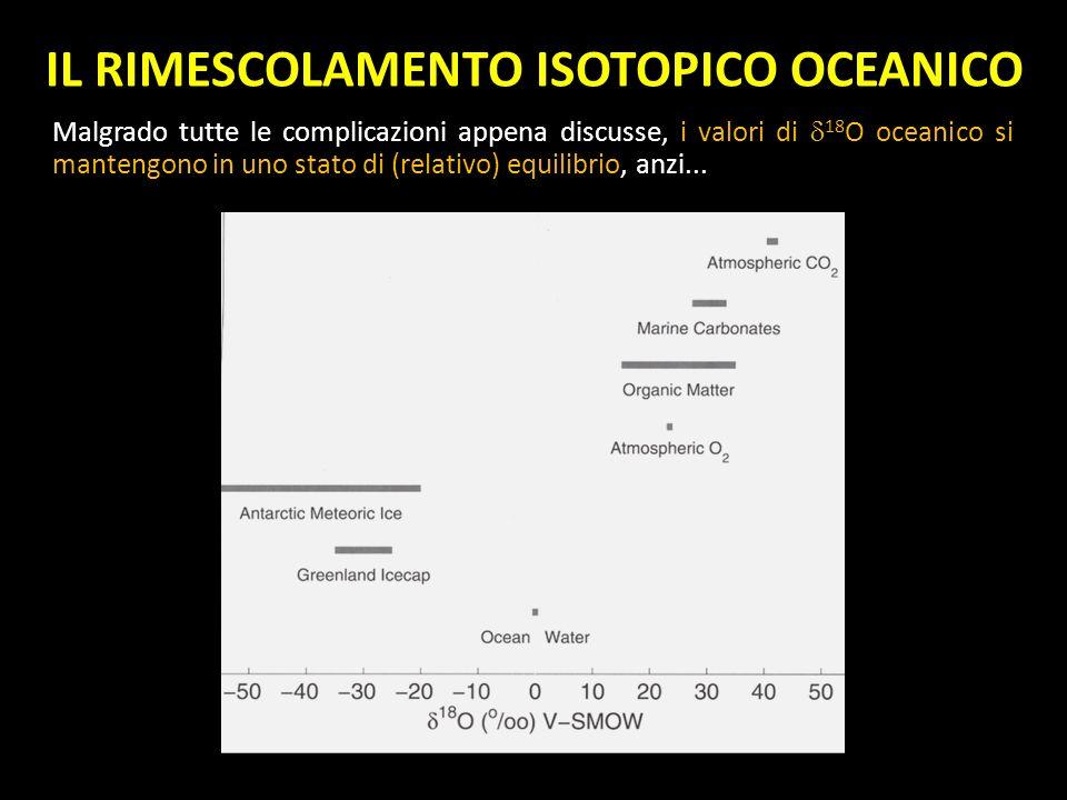 IL RIMESCOLAMENTO ISOTOPICO OCEANICO