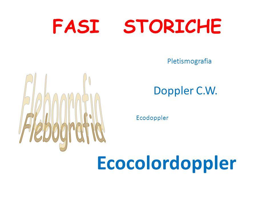 Ecocolordoppler FASI STORICHE Flebografia Doppler C.W. Pletismografia