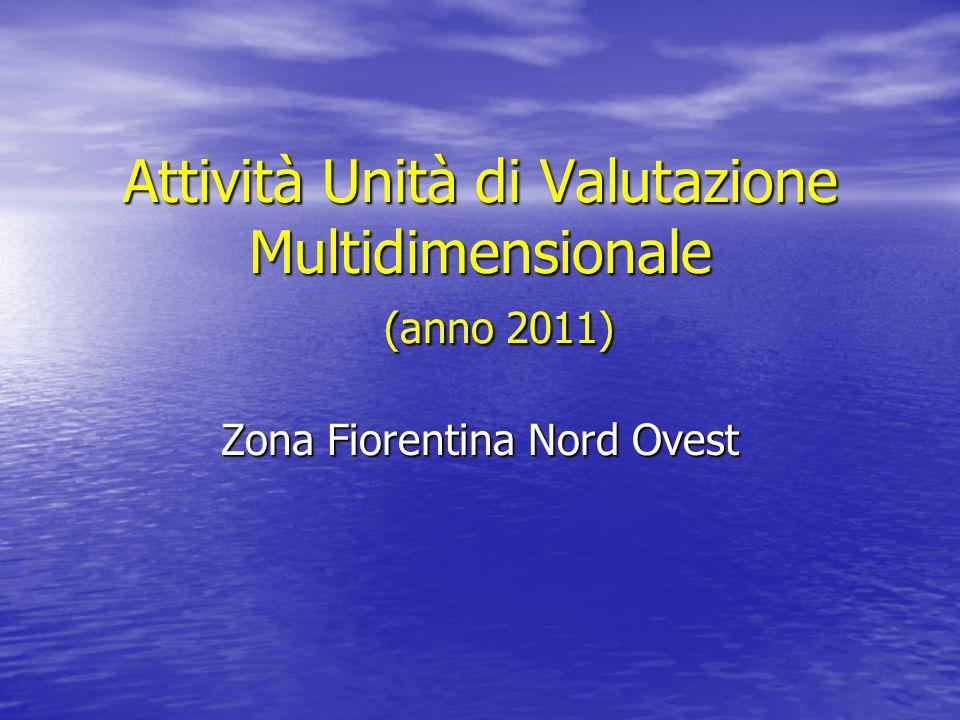 Attività Unità di Valutazione Multidimensionale (anno 2011)