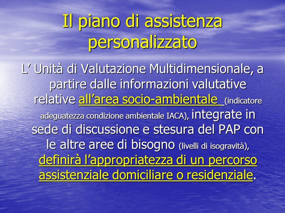 Il piano di assistenza personalizzato