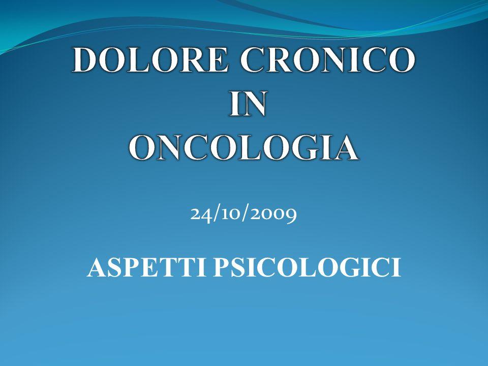 Dolore cronico in oncologia