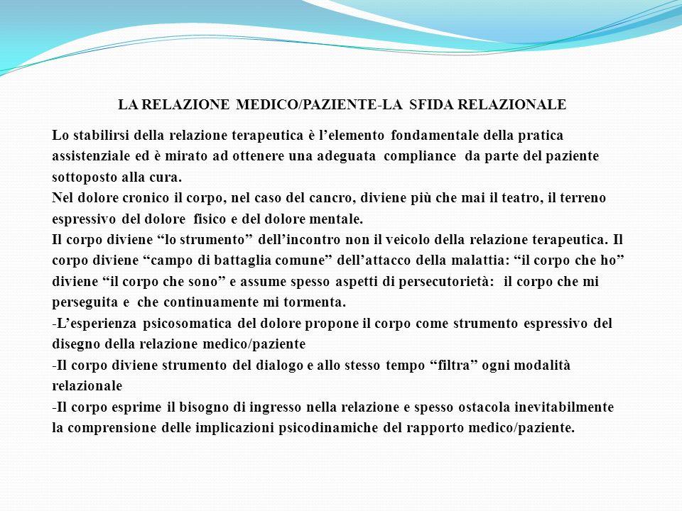 LA RELAZIONE MEDICO/PAZIENTE-LA SFIDA RELAZIONALE