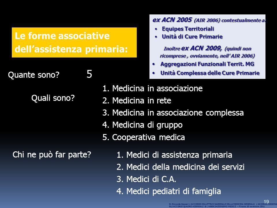 5 Le forme associative dell'assistenza primaria: Quante sono